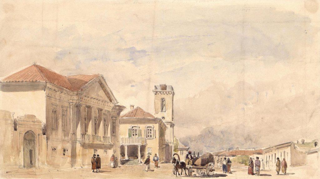 Гудолл - Керчь, улица Керчи, картина 19 века