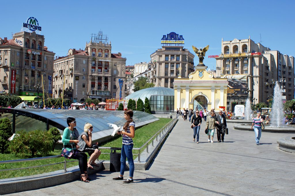Майдан Незалежности в Киеве фото