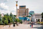 Майдан Незалежности в Киеве летом