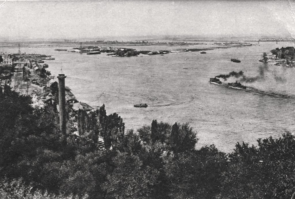 Старое фото Киева - вида на Подол и Днепр