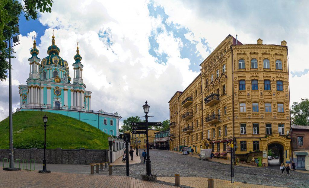 Панорамы Киева - Андреевская церковь