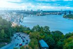 Фото Подола и Гаванского моста в Киеве
