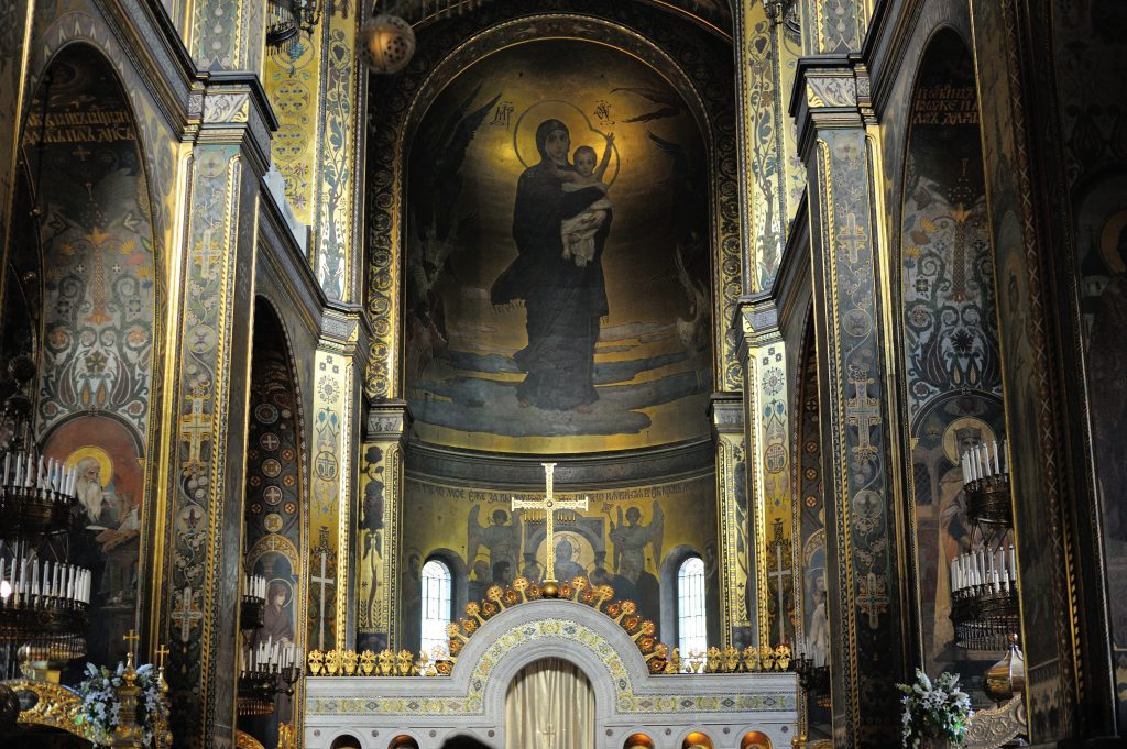 Фото внутри Владимирского собора в Киеве