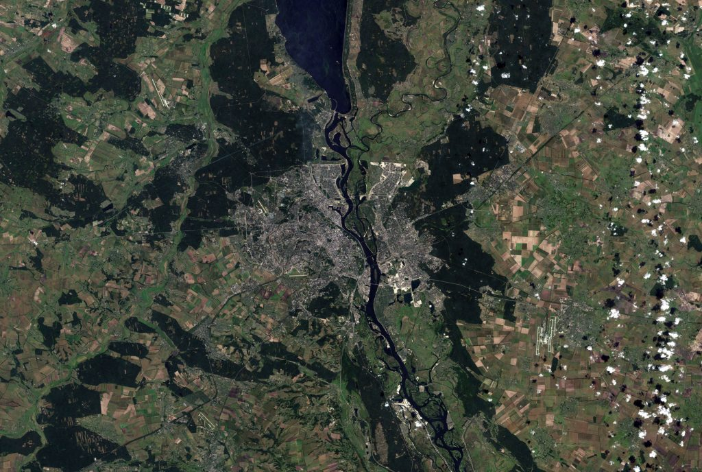 Киев вид с космоса с воздуха