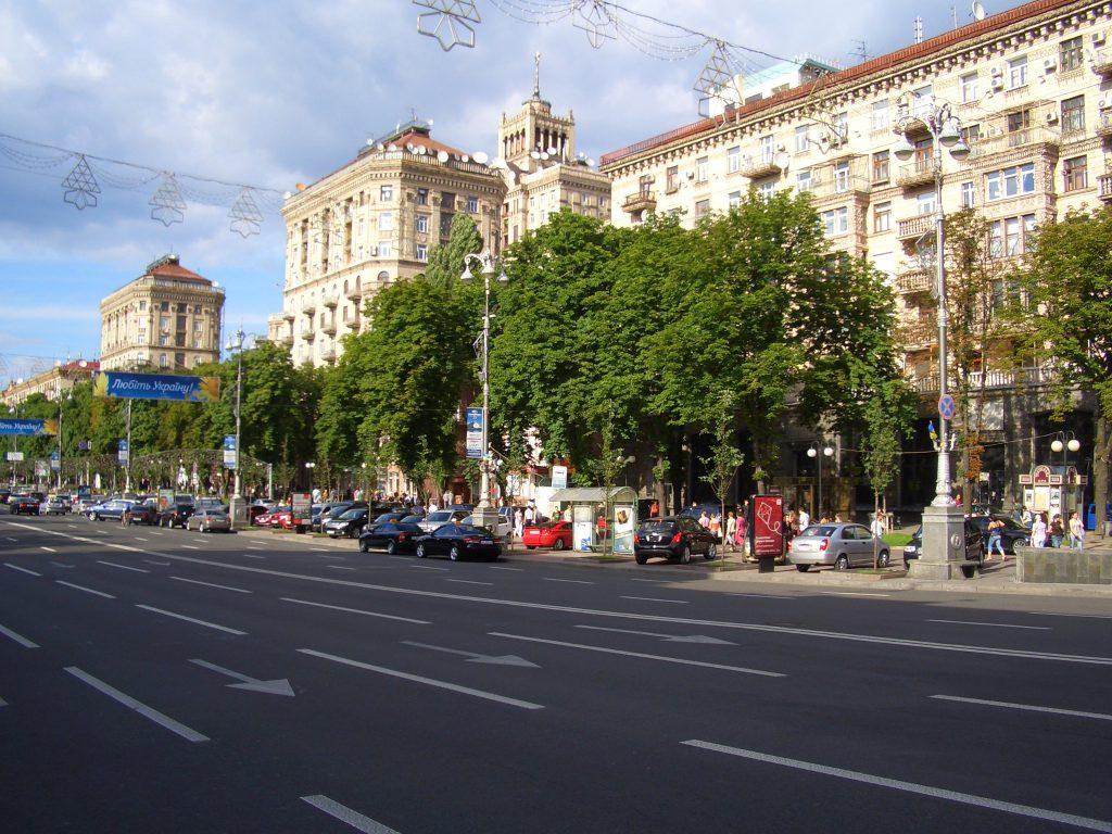 Фото улицы Хрещатик в Киеве