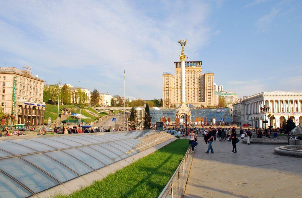 Главная площадь Киева Майдан Незалежности