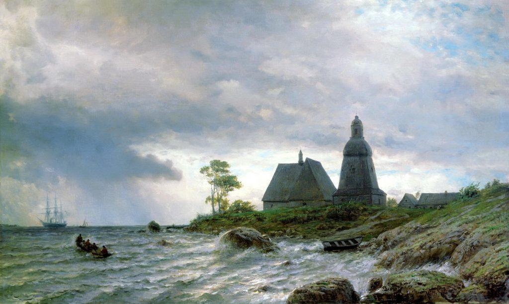 Картина Лагорио - северный пейзаж, север России