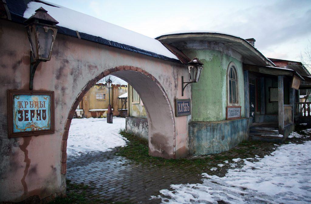 Старые дома, киногород Ленинские горки, Москва