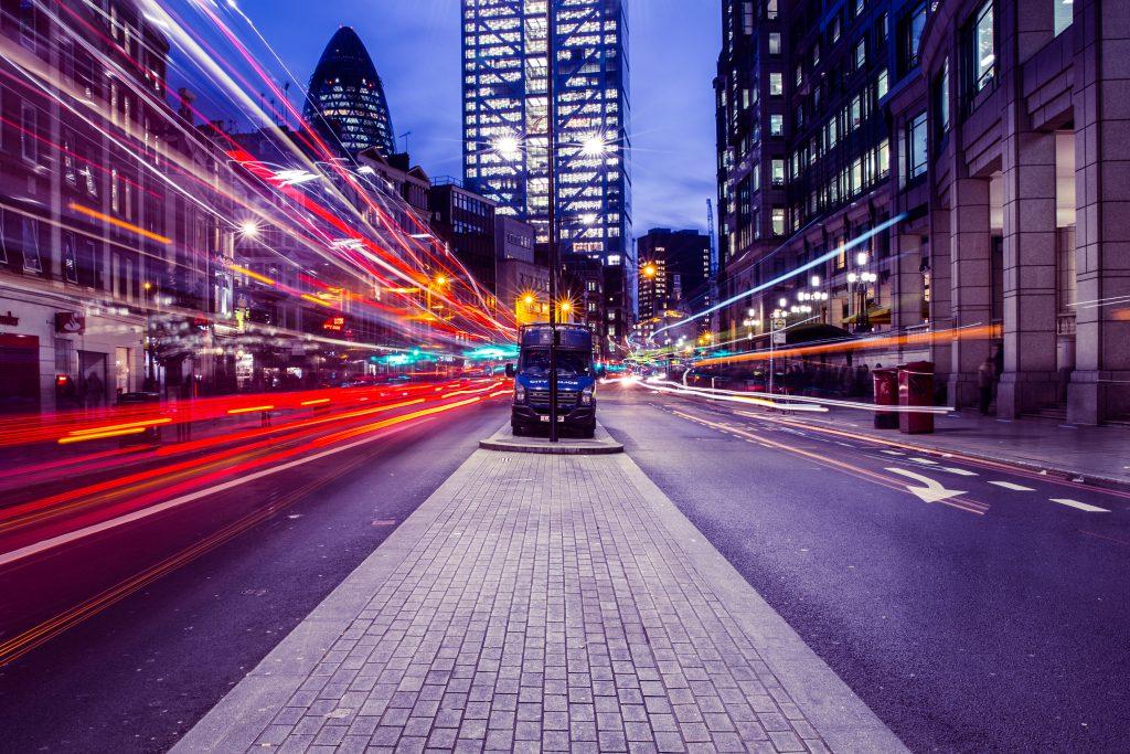 Огни ночного Лондона