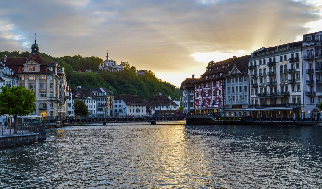 Стоковое фото города Люцерна в Швейцарии