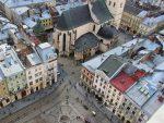 Центр Львова с высоты птичьего полета