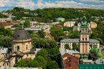 Красивая панорама центра Львова фото