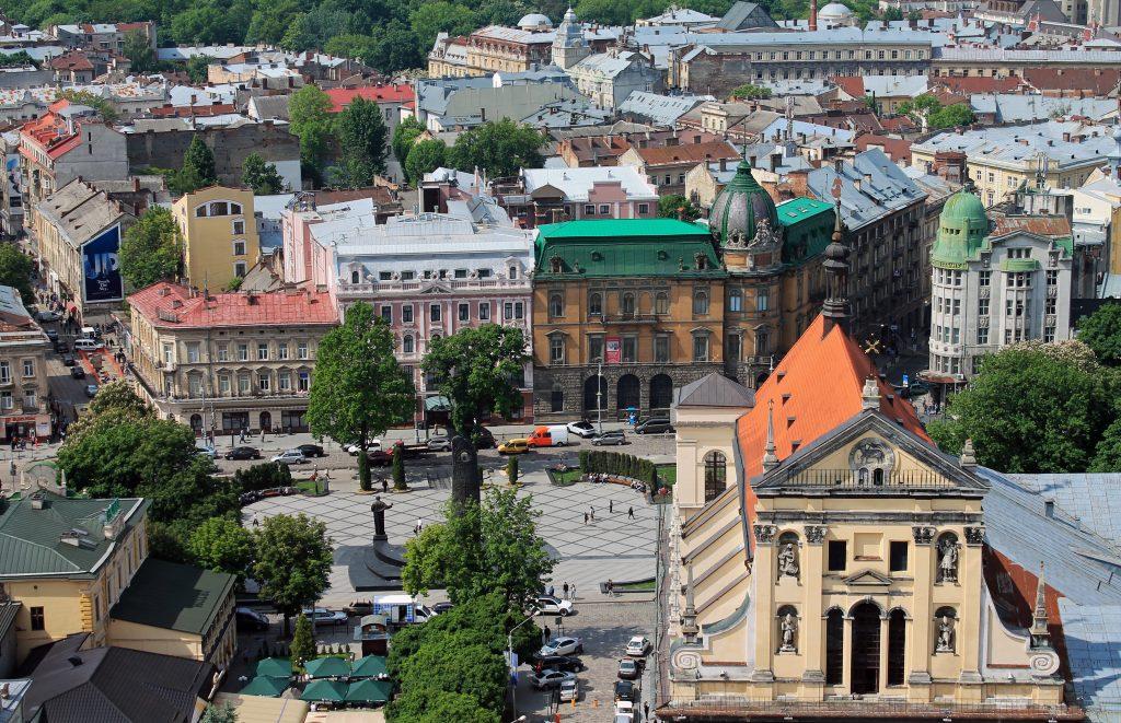 Панорама исторического центра Львова