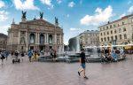 Львовская опера и фонтан