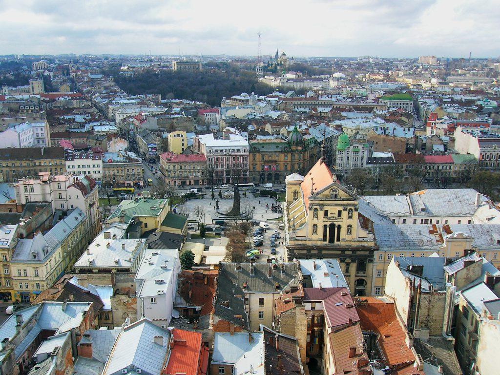 Фото панорамы центра Львова