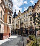 Красивая улица Львова стоковое фото