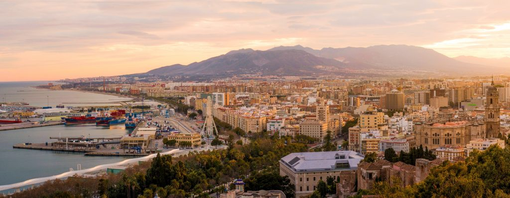 Город Малага Испания