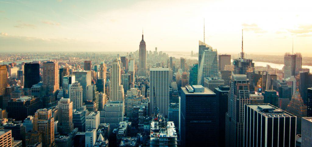 Панорама Манхеттена в Нью-Йорке