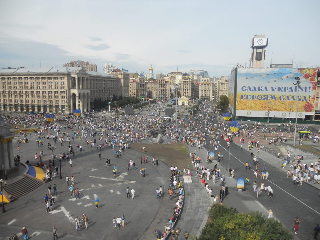 Панорама Майдана Незалежности в Киеве