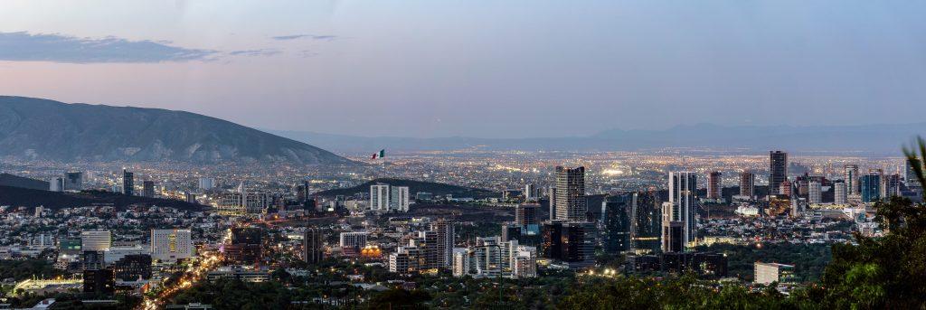 Панорама города Монтеррей, Мексика