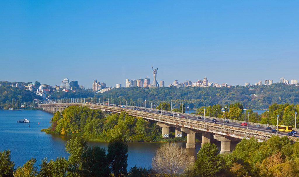 Киев мост Патона стоковое фото