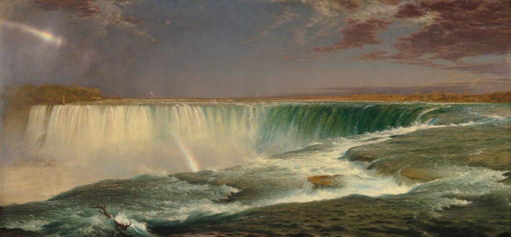Чёрч. Картина 19 века Ниагара - Ниагарский водопад