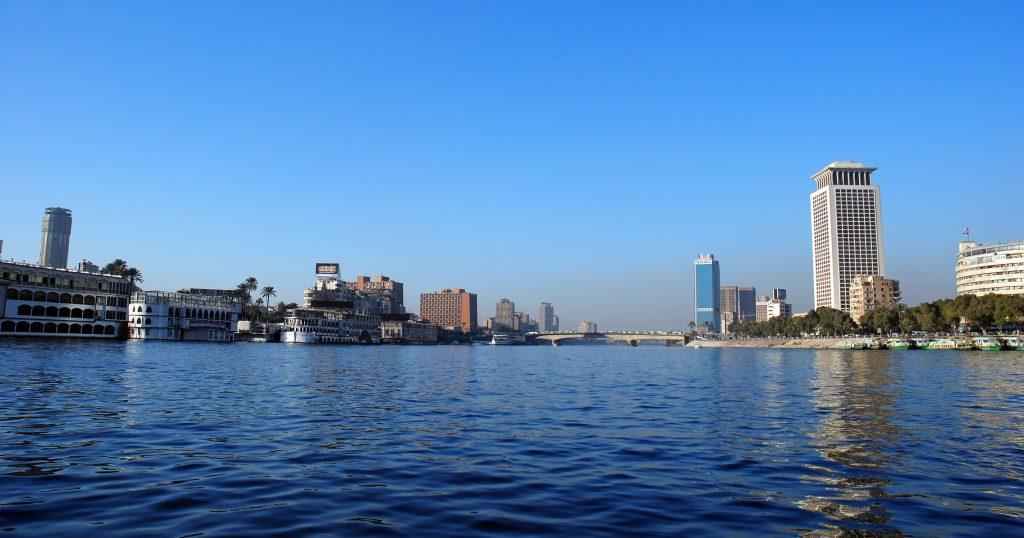 Каир - река Нил, набережная, небоскребы