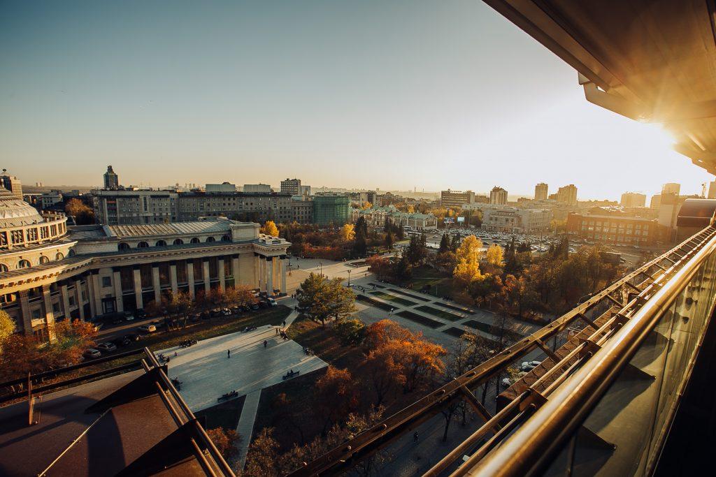 Новосибирск центр города, Сибирь, Россия