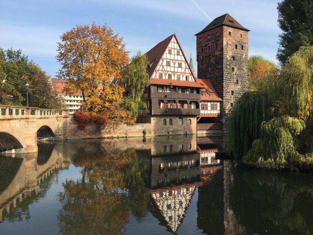 Нюрнберг набережная реки Пегниц