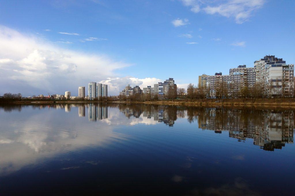 Оболонь озеро Иорданское - Опечень и жилой микрорайон, Киев