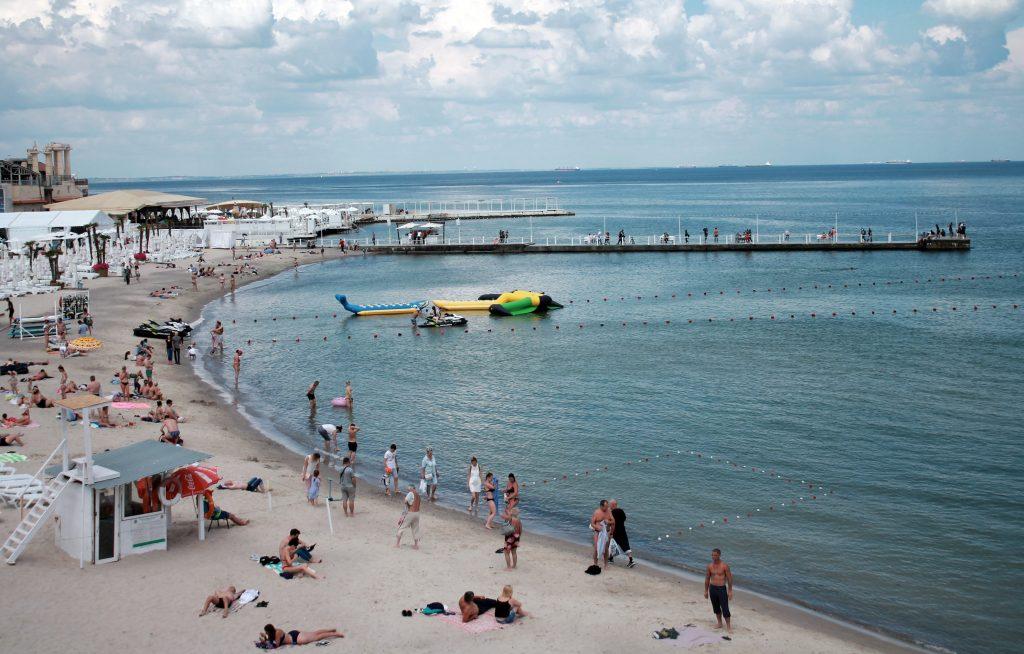 Пляж Аркадия в Одессе фото