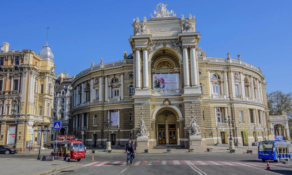 Фасад оперного театра в Одессе