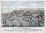 Одесса - гравюра карта города. 19 век