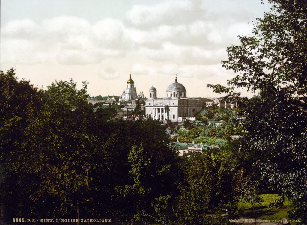 Католическая церковь в Киеве, ретро фото конца 19 века