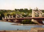 Николаевский мост в Киеве через Днепр - старое ретро фото Киева 19 века