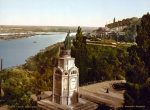 Памятник Владимиру Великому и Владимирская горка - старый Киев 19 века