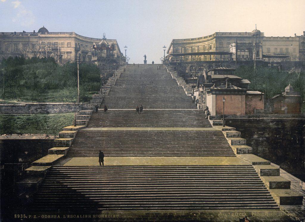 Лестница Ришелье - старые фото Одессы 19 века