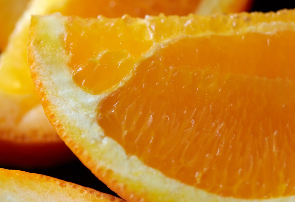 Цитрусовые - апельсин вблизи, крупный план