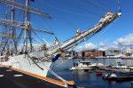 Фото яхты и набережной в Осло
