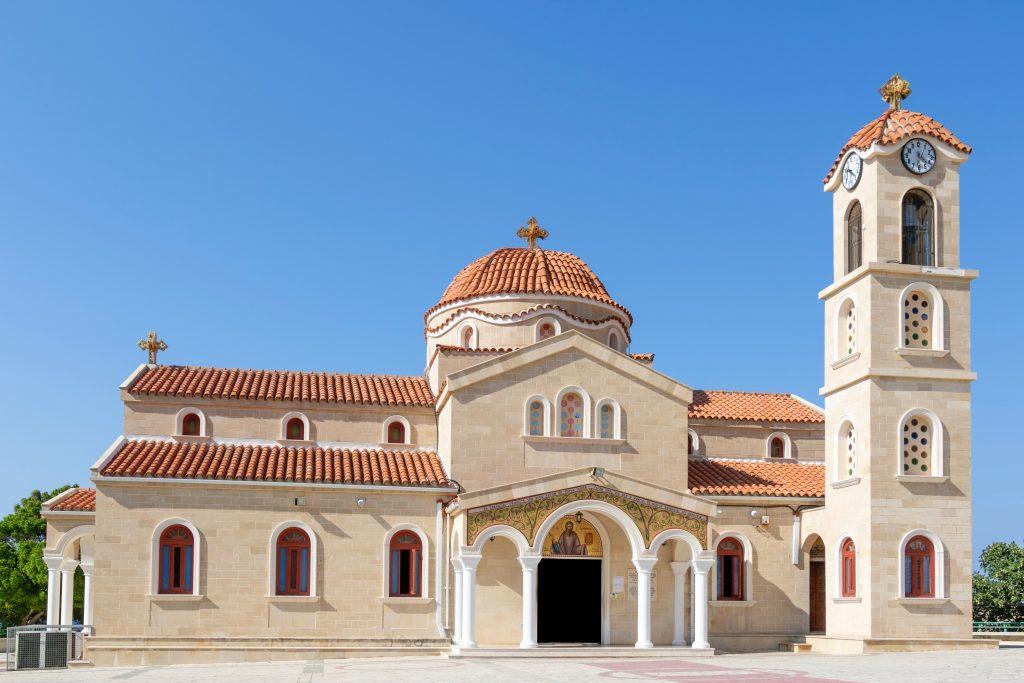 Церковь на Кипре в деревне Пахиаммос