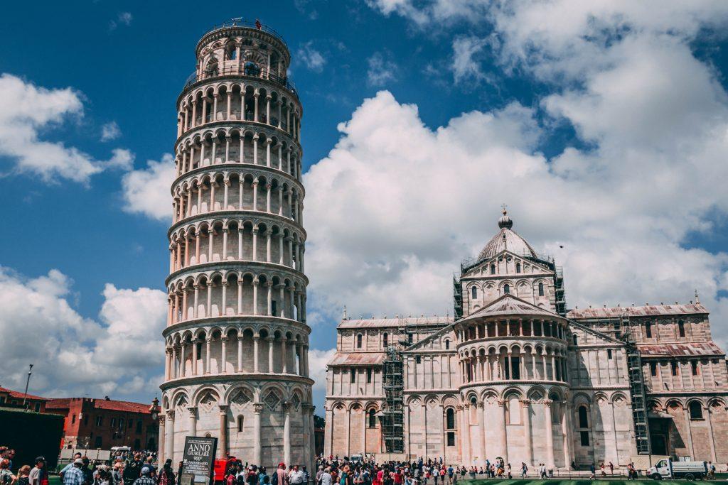 Пизанская башня город Пиза стоковое фото
