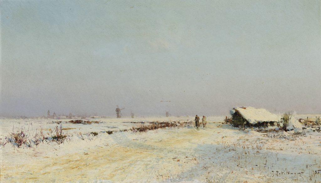 Похитонов - картина два охотника в снегу