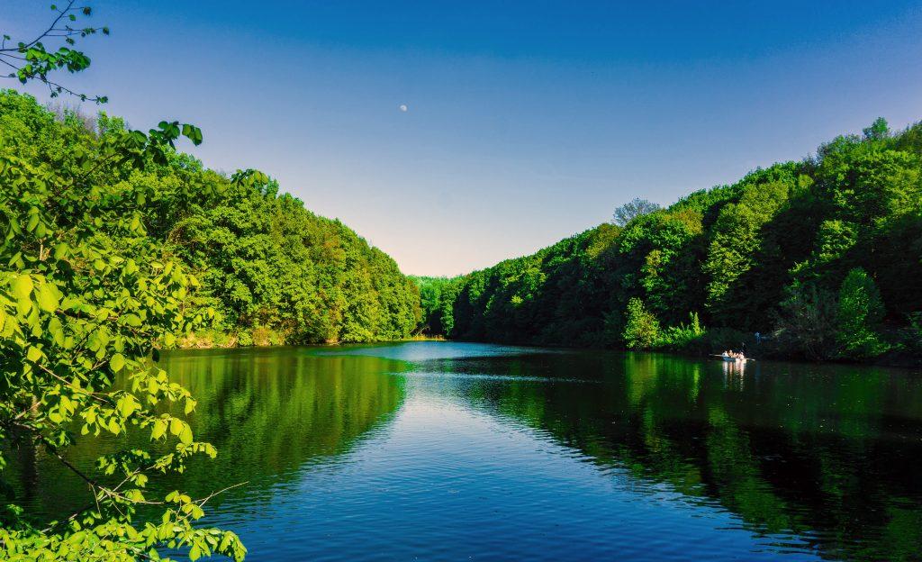 Озеро и парк в Полтаве