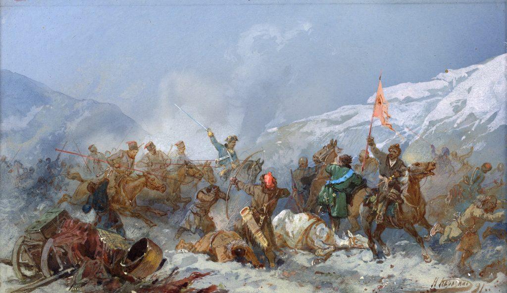 Восстание Пугачева, Пугачевщина. Бой с войсками