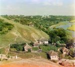 Город Путивль и река Сейм ретро фото