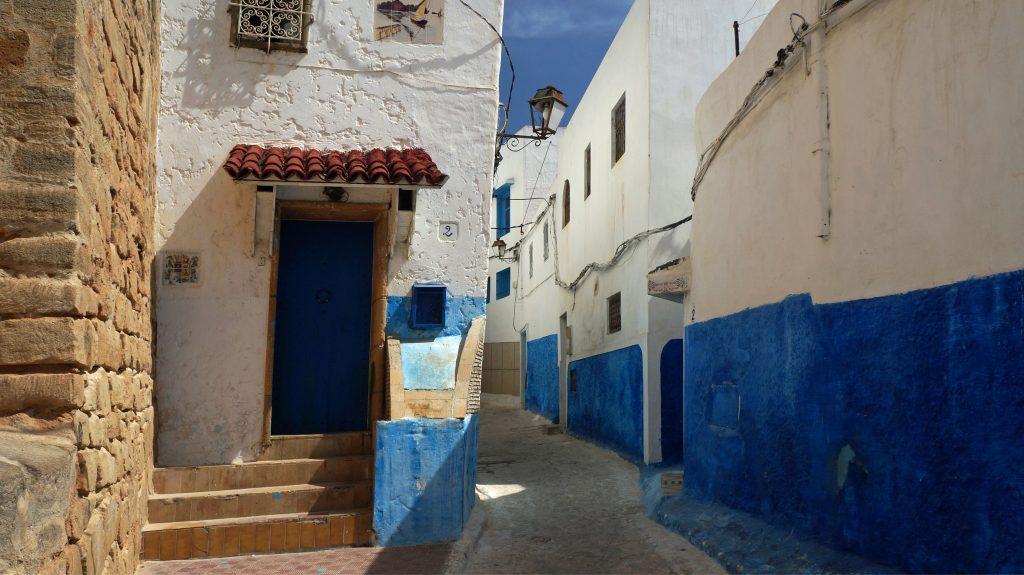 Район Касба Удая в городе Рабат, Марокко