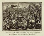 Гравюра 17 века Битва римлян с германцами