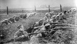Первая мировая война - русские солдаты в окопах
