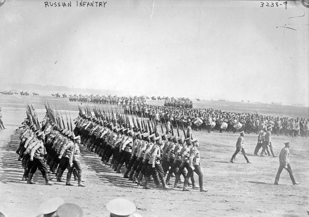 Российская пехота ретро фото, Первая мировая война