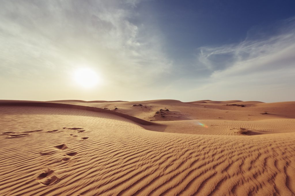 Песчаные дюны пустыни Сахара фото